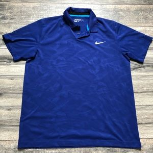 Nike Golf Tour Performance blue polo